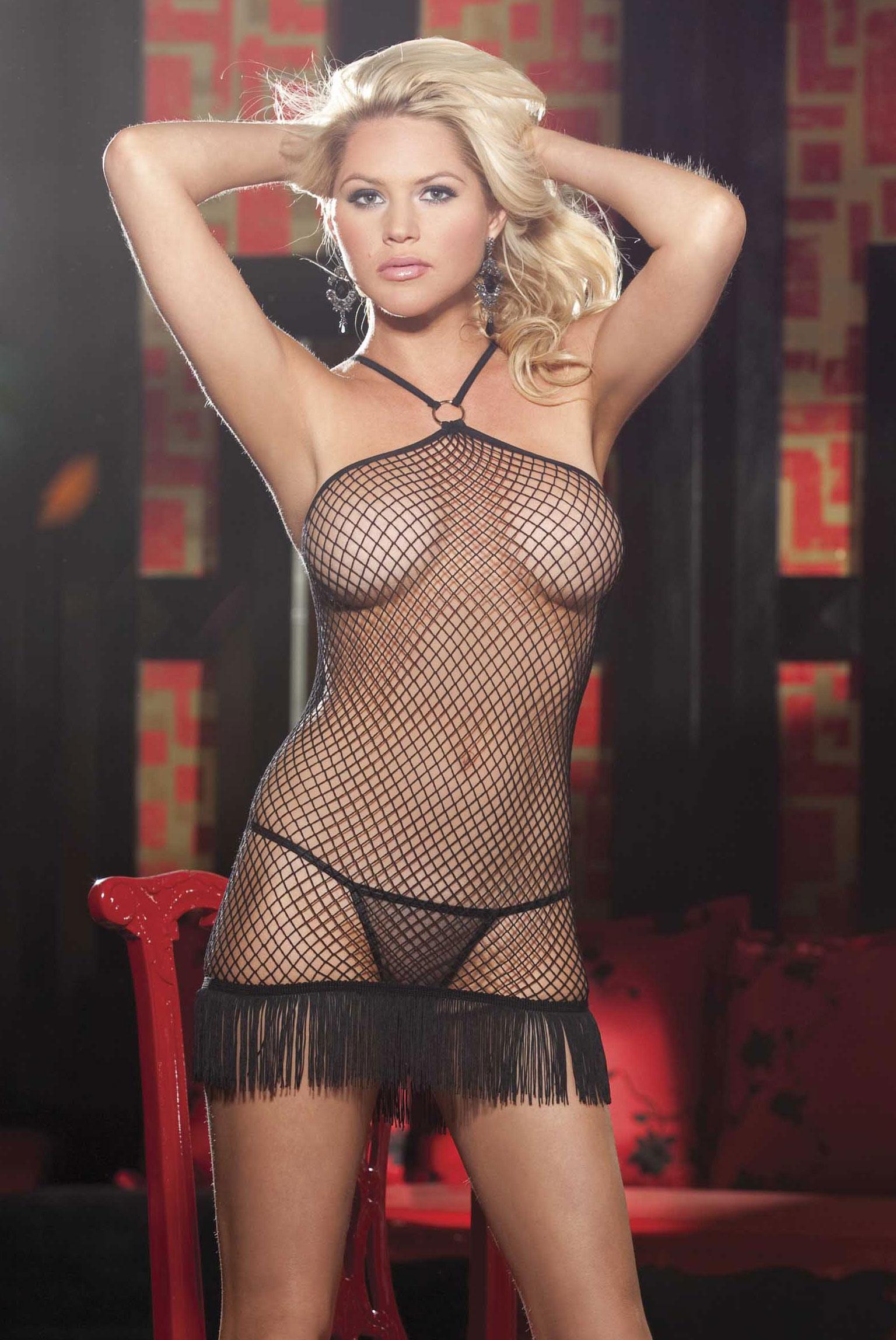 Эротическое белье платье сетка 11 фотография
